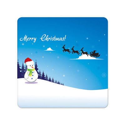 Fridge Magnet Square - Christmas